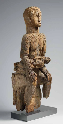 [E1] Maternity Figure: Seated Mother and Child. Mbembe